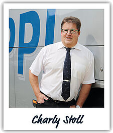 Unser Fahrer Charly Stoll