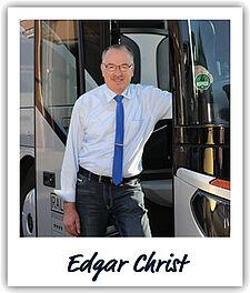 Unser Fahrer Edgar Christ